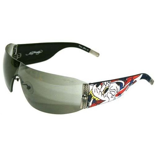 Ed Hardy Wolf Sunglasses EHS-010 Black Solid ()