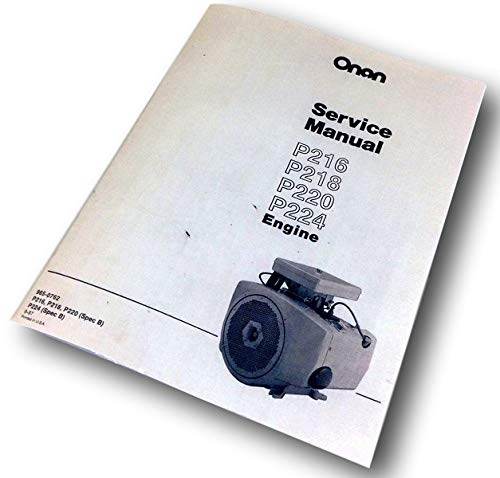 Onan Engine 16 18 20 24 Hp Service Repair Overhaul ()