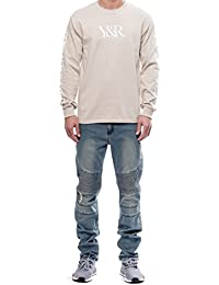 Young and Reckless - Bradley Long Sleeve Tee- Sand - - Mens - Tees - Graphic Tee -