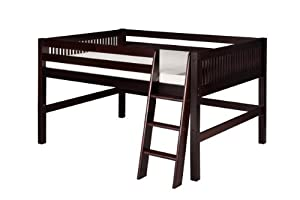 Camaflexi Mission Style Solid Wood Low Loft Bed