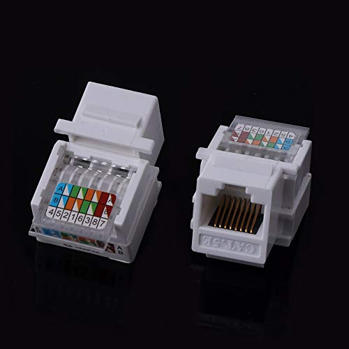 Ants-Store - 5Pcs/Lot UTP RJ45 CAT5E Module Tool-free Socket Module For Network Integrated Wiring