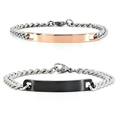 engraved custom couples bracelets - 4