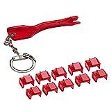 Locking RJ45 Port Dust Blocker with Removal Keys Tool