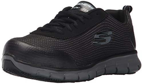 Skechers for Work Women's Synergy Wingor Work Shoe, Black, 8 M US by Skechers