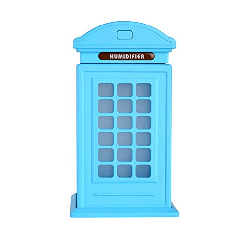 - Wulidasheng Cool Mist Humidifier,Telephone Booth Humidifier LED Light Car Office Bedroom Mini Desk Mist Diffuser Blue
