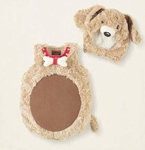 [6-12 Months Faux Fur Puppy Dog Costume] (Puppy Dog Baby Costume)