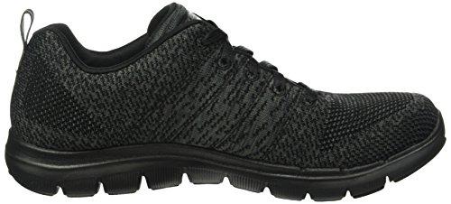 Skechers Vrouwen Flex Beroep 2.0 Sneaker Zwart Houtskool