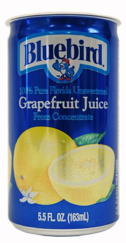 Bluebird Unsweetened Grapefruit Juice, 5.5-Ounce Cans (Pack of 48) (Bluebirds The)