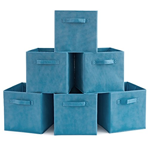 Set of 6 Basket Bins- EZOWare Collapsible Storage Organizer Boxes Cube For Nursery Home - Niagara - Stores Outlet Niagara