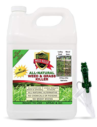 Natural Armor Weed & Grass Killer All-Natural Concentrated Formula. Contains No Glyphosate. 128-Ounce Gallon