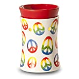 Peace Sign Electric Mini Candle Warmer - Releases Rich Relaxing Fragrance to Replace Aroma Therapy Candles - Sets Perfectly In Any Bedroom or Bathroom as Furniture Accessory *CLEARANCE ITEM