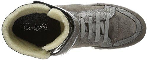 Manas Ankle boot 172M4501PSWOLIX Damen Stiefel Grau/ELEFANT+ANTRACITE