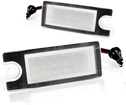 LED Kennzeichenbeleuchtung Nummernschildbeleuchtung Matr/ícula con autorizaci/ón Canbus Plug/&Play V-03250