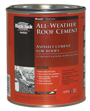 Gardner Gibson 6230-9-14 Black Jack All Weather Roof Cement, 1 qt (Pack of 12)