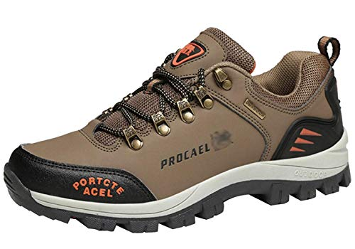 Al De Deporte Aire Entrenamiento Trekking 15 41eu Informal Caminar Cuero Zapatillas color Fuxitoggo Tamaño Para Trabajo Hombres Libre Botas 8BXPv