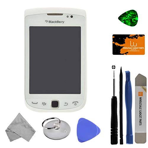 LCD & Digitizer Assembly (001/111) for BlackBerry Torch 9810 (White) with Tool Kit (9810 White Torch)