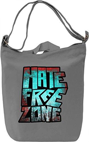 Hate Free Zone Borsa Giornaliera Canvas Canvas Day Bag  100% Premium Cotton Canvas  DTG Printing 