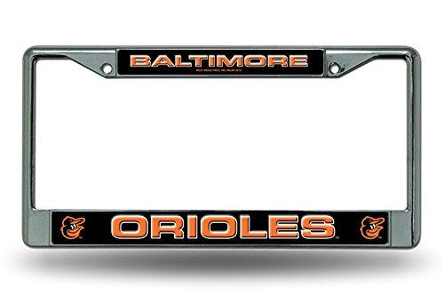 (Baltimore Orioles LBL Metal Chrome License Plate Tag Frame Cover Baseball)