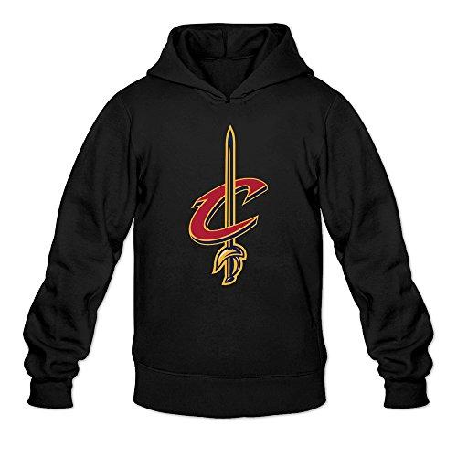 Cavalier Black Sweatshirt (MARY Men's Cleveland Cavalier Team Design Logo Sweatshirt Black)