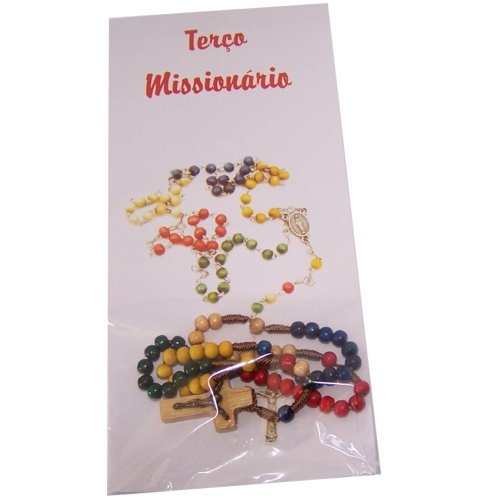 Missionary Rosary - small colored 4mm beads (22cm or 8.5