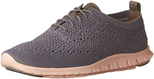 Femme tropical Zerogrand Knt Gris ironstone Cole Richelieus Knit Oxford Stitchlite Irnstn pch Haan Peach leather w1qvxpX