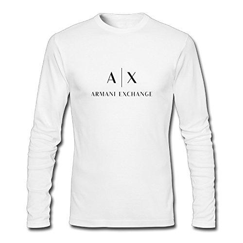 Men's Fashion Armani Exchange 2015 Logo Long Sleeve