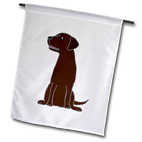 3dRose fl_200099_1 Cute Artistic Chocolate Labrador Retriever Puppy Dog Garden Flag, 12 by ()
