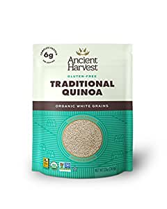 Ancient Harvest Organic Quinoa, Traditional, 27 oz. Bag, Essential Gluten-Free Whole Grain Quinoa Packed with Protein, An Easy to Prepare Supergrain