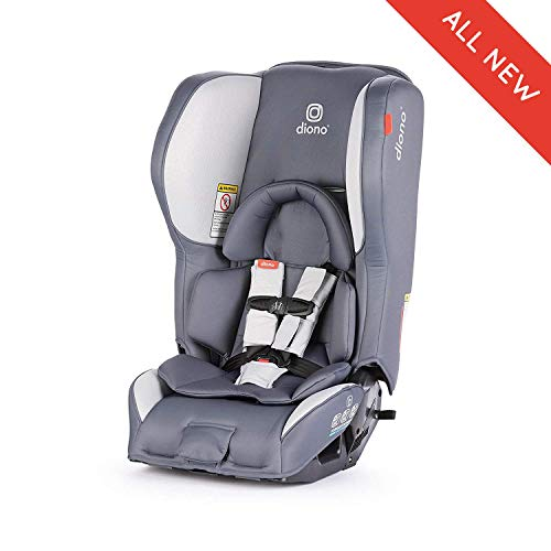 Diono Rainier 2AX Convertible Car Seat, for Children from Birth to 65 pounds, Dark Grey