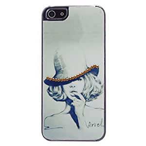 LCJ Elegant Lady's Head Portrait Feature Protective Case for iPhone 5/5S by ruishername