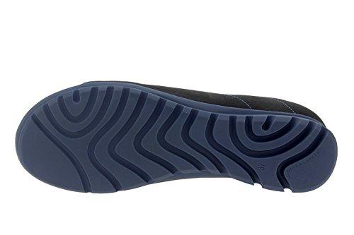 Komfort Damenlederschuh Piesanto 7525 schnürschuh lässig bequem breit Negro