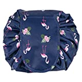 Womens Drawstring Waterproof Travel Cosmetic Bag