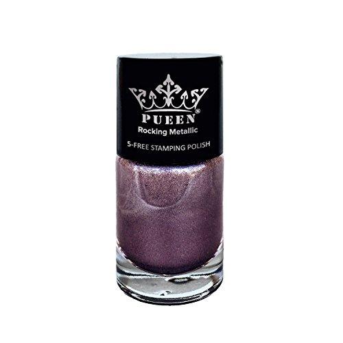 Pueen Rocking Metallic Nail Polish For Nail Stamping Big 5 Free Formula Nail Color Lacquer  605 Love Affair  Bh000581