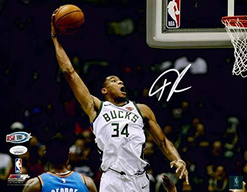 Giannis Antetokounmpo Bucks Signed Autographed 11x14 Photograph Photo JSA - Nike Poster Basketball
