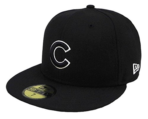 New Era 59Fifty Cap Chicago Cubs MLB Basic Black/White Fitted Hat (7 1/4)