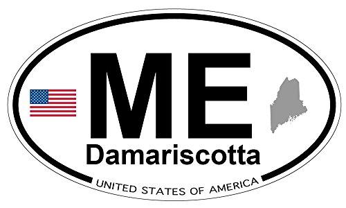 Damariscotta, Maine Oval Sticker