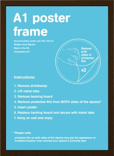 GB eye 59.4 x 84.1 cm A1 MDF Wrapped Frame, Walnut by GB Eye Limited
