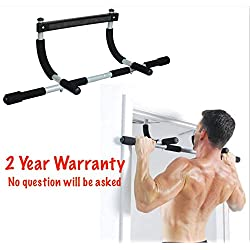 Arise Fitness Two Year Warranty Total Upper Body Workout Bar. Multi-Grip Chin-Up/Pull-Up Bar, Heavy Duty Doorway No Screw, Trainer for Home Gym,