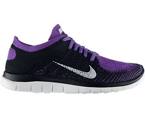 super popular e2337 4dfcc NIKE Free Flyknit 4.0 Ladies Running Shoe, Black White Purple, US7.5 - Buy  Online in UAE.   Apparel Products in the UAE - See Prices, Reviews and Free  ...