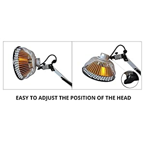 Improved TDP Lamp CQ222 - Genuine 6.5 inch Mineral Plate by VITA ACTIVATE | 3rd Generation Far Infrared Mineral Lamp is Best + Detachable Head + Protection Cap