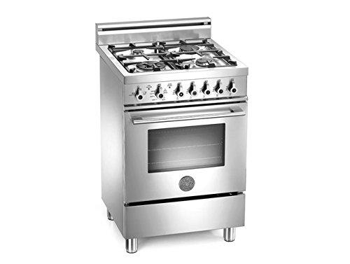 Bertazzoni Freestanding Ranges (Bertazzoni PRO244GASX Professional 24 Stainless Steel Gas Sealed Burner Range)