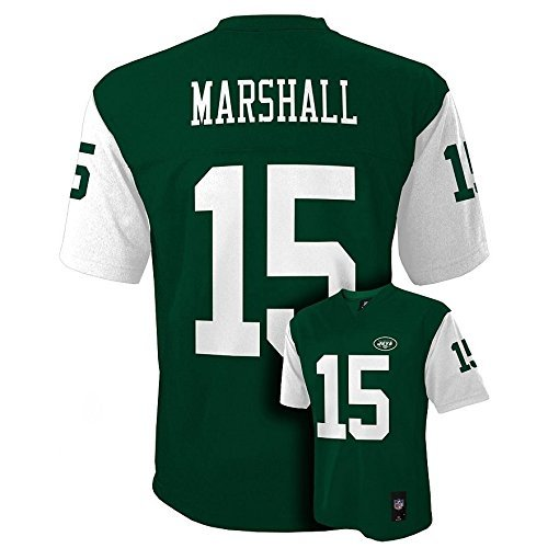 - Outerstuff Brandon Marshall New York Jets #15 NFL Youth Mid-tier Jersey Green (Youth Large 14/16)