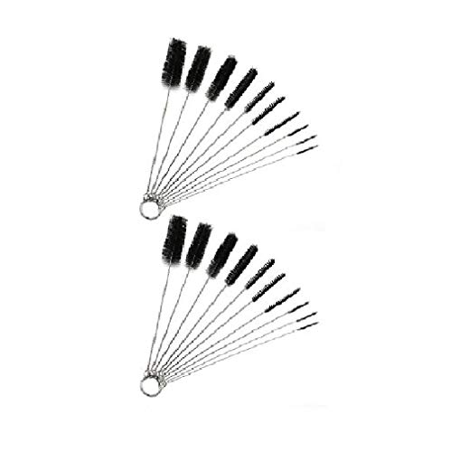10 Nylon and Metal Cleaning Brushes for Pipes Keyboards Glasses (2)
