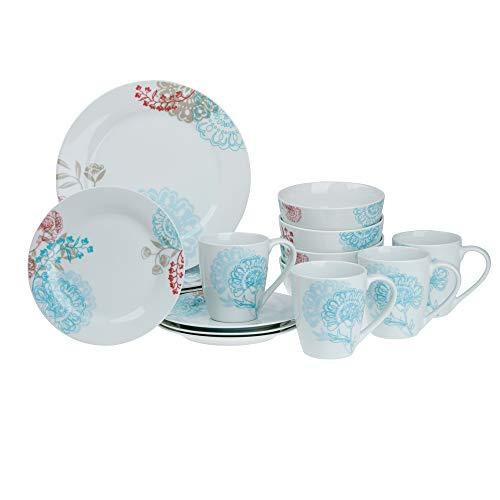 (Tabletops Gallery Emma 16-Piece Dinnerware Set Service of 4)