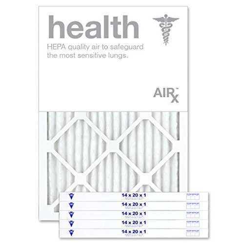 AiRx HEALTH 14x20x1 Air Filters - Optimal for Health Protection - Box of 6 - Pleated 14x20x1 MERV 13 Air Filters, AC Filters, Furnace Filter - Energy Efficient