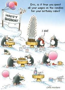 Carte Anniversaire Eric.Carte De Voeux Humour Anniversaire Eric Le Pingouin Souffle Du Lot