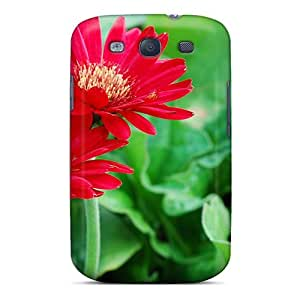 New Premium Flip Case Cover Nature Flowers Two Bright Flower Skin Case For Galaxy S3
