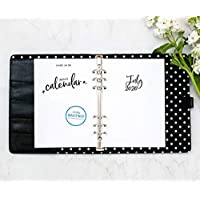 "July 2020 - June 2021 Academic Monthly Calendar for A5 Planners, fits Filofax, Kikki K, Carpe Diem Planners, 6 Ring binder, 5.8"" x 8.3"" Whimsy (Planner Not Included)"