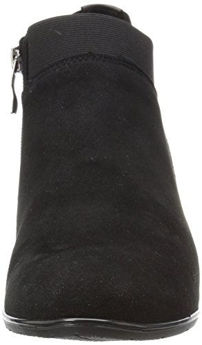ara Womens Torrance Ankle Boot Black Suede/Leather 2VDyUVAL