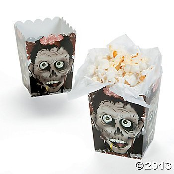 Halloween Zombie Head Mini Popcorn Boxes - 12 ct]()